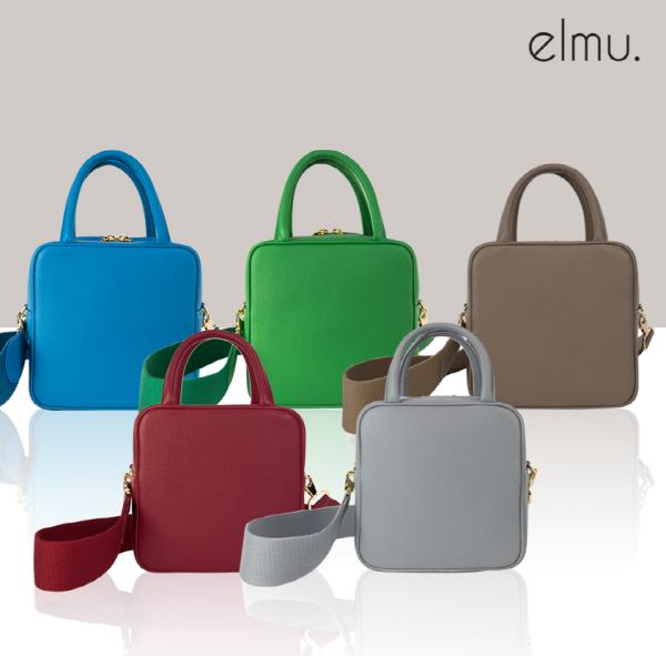 elmu กระเป๋า Plynn bag แบนด์เกาหลีใต้ กระเป๋าหนังสะพายข้างเรียบหรู ดูแพง (รอสินค้า7-14วัน)